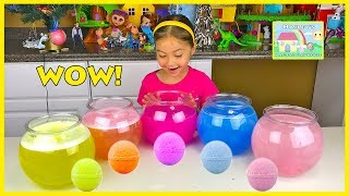 DISNEY PRINCESS SURPRISE EGGS BATH BALL TOYS Lightning McQueen Finding Dory Thomas and Friends Fizzy
