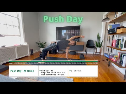 Workout video for Push Day - Upper Body