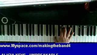 How To Play Unbreakable ( Alicia keys ) Piano Lesson