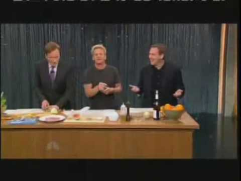 Gordon Ramsay cooking with Norm Macdonald and Conan O'Brien goes off the rails immediately