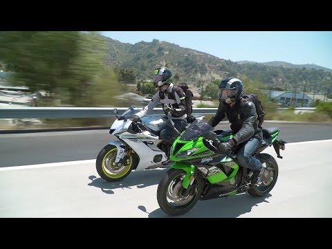 Sportbike vs. Naked Bike: ZX-6R vs. YZF-R6 & Z900 vs. FZ-09 — ON TWO WHEELS