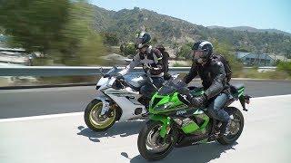 Sportbike vs. Naked Bike: ZX-6R vs. YZF-R6 & Z900 vs. FZ-09 — ON TWO WHEELS