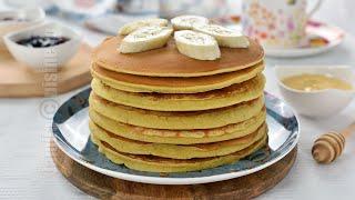Clatite americane cu banane fara zahar / Pancakes cu banane | JamilaCuisine
