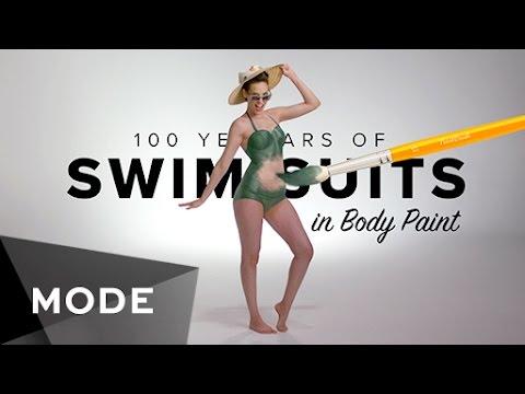 Thời Trang Đồ Bơi trải qua 100 năm với Body Paint
