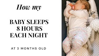 Sleep Training Tips | How I got my 2 month old Baby to Sleep through the night 🌙✨
