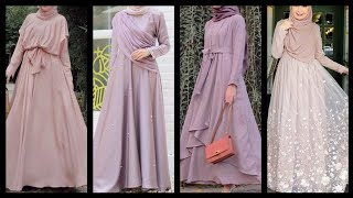 Most Beautiful Party Wear Fancy Colorful Long Maxi Dresses Collection For Hijab Girls And Women
