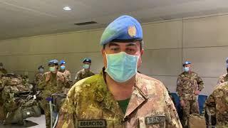 La partenza dei 'Dimonios' per la missione in Libano
