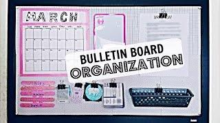 Bulletin Board Organization and DIY Decor | Riley Meow