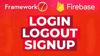 User Authentication for Framework7 using Firebase   Beginner Example Tutorial How-To