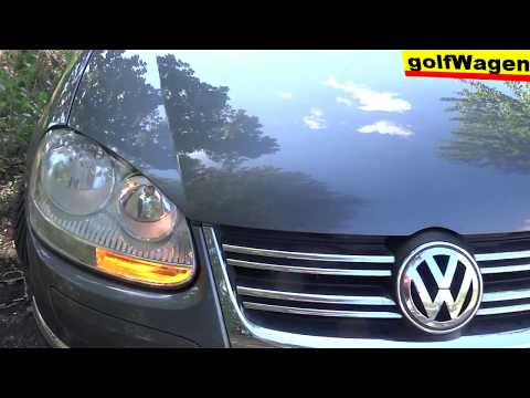 VW Golf 5 How to set US parking lights front/rear brake lights USA/CAN style 10%-100% test