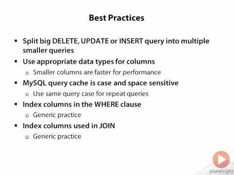 MySQL Query Optimization Best Practices