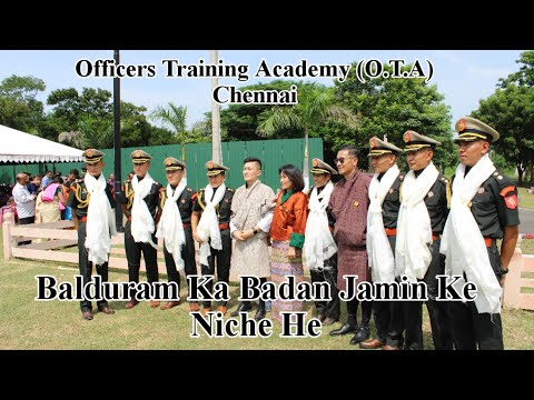 Balduram Ka Badan Sung by Newly Commission Officers In Officers Training Academy O.T.A Chennai