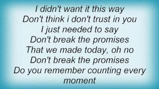 10cc - Don't Break The Promises Lyrics