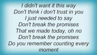 10cc - Don't Break The Promises Lyrics