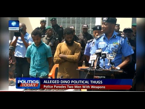 Police parade thugs allegedly hired by Dino Melaye