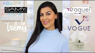 Probando Maquillaje COLOMBIANO | Samy, Vogue, Valmy, Raquel & Mas