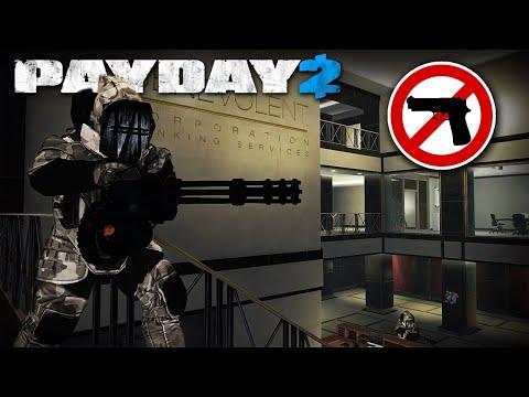 Big Bank with MINIGUN DOZERS, no KILLS, no Pagers! (PAYDAY 2 Heavy Security Mod)