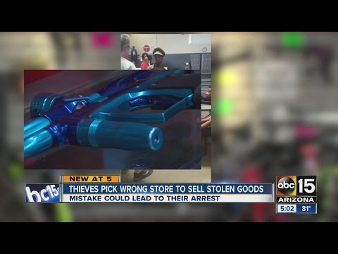 Thieves pick wrong store to try to sell stolen goods