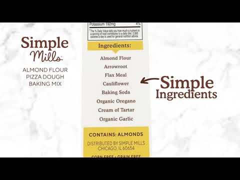Simple Mills,  خال من الغلوتين بشكل طبيعي، خليط دقيق اللوز ، عجينة البيتزا، 9.8 أوقية (277 غرام)