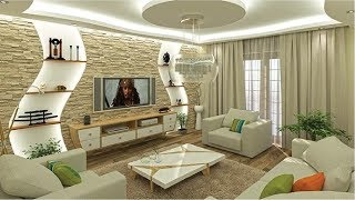 Best 100 Modern Living Room Decorating Ideas - POP Ceiling Design For Hall 2020