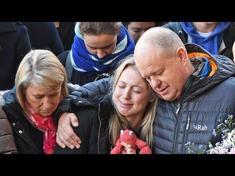 Family and girlfriend of Jack Merritt attend London Bridge vigil in Cambridge and London