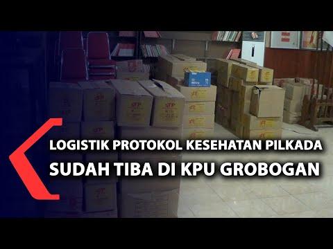 logistik prokes pilkada sudah tiba di kpu grobogan