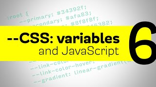CSS Variables - manipulating them with JavaScript
