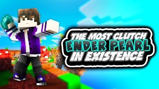 The Most Clutch Ender Pearl in Existence (Minecraft Mega Skywars)
