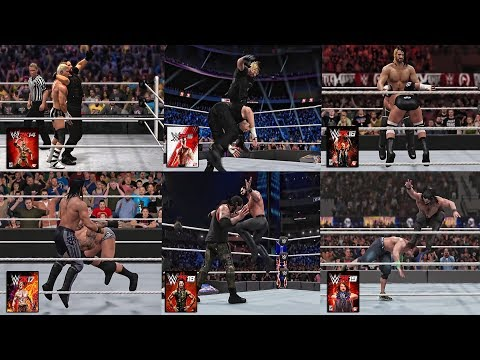WWE 2K19 Seth Rollins Every Finishers In WWE Games!