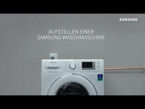 Samsung Waschmaschinen: Aufstellen der Waschmaschine