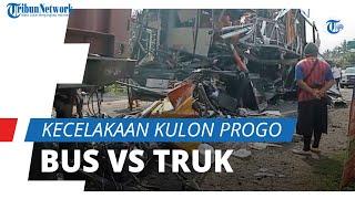 Kronologi Kecelakaan Maut Bus Vs Truk di Kulon Progo, 2 Orang Tewas dan Belasan Luka-luka