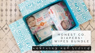 Honest Company Diapers And Wipes Bundle | Review And Unboxing