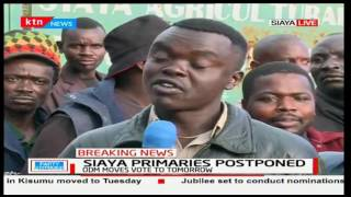 Siaya residents claim postponement of party primaries could lead to rigging of the elections
