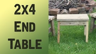 2x4 End Table (POV) - ShieldsCraft! - Mother's Day Gifts!