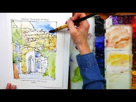 Watercolor Workshop in Provence: Online Painting Class