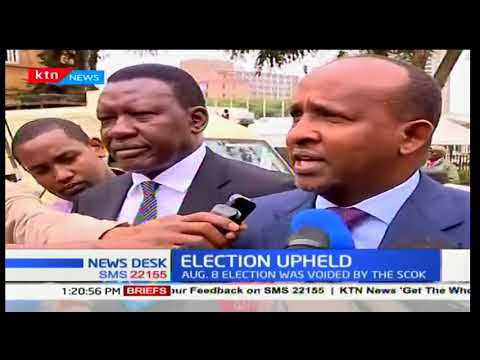 Majority Leader Aden Duale elated at the decision by SCOK