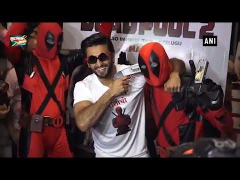 Watch Ranveer Singh Fooling Around At 'Deadpool 2' Screening
