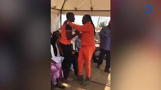 DJ Kriss Darlin kneels before Raila, begs for ODM ticket in Kibra by election race