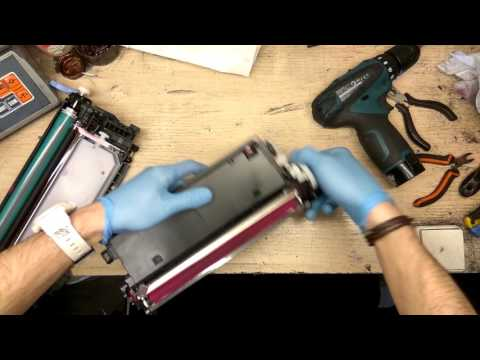Заправка картриджа HP Q7580A Q7581A Q7582A Q7583A // Cartridge refill HP Q7580A Q7581A Q7582A Q7583A