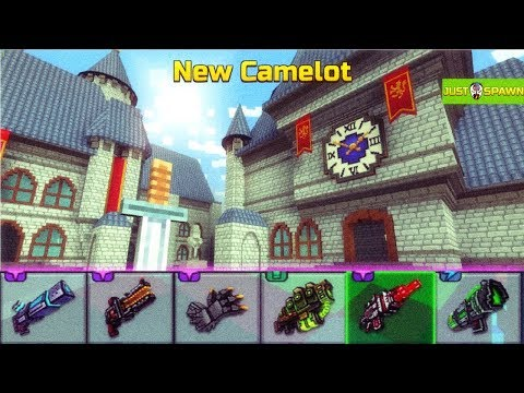 New Camelot - Pixel Gun 3D New Update 16.6 New Map Gameplay