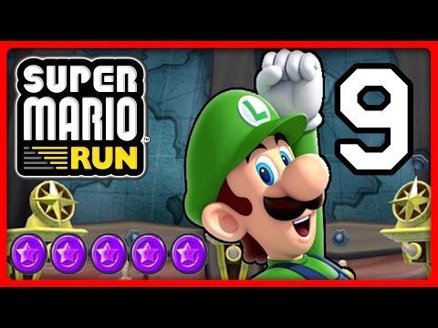 Super Mario Run Part 9 Luigi Schnappt Sich Die Lila Münzen Von