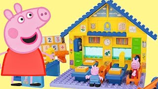 Learn Number Nick Jr. Peppa & George Pig School Construction Duplo Playset, Toy Surprises / TUYC