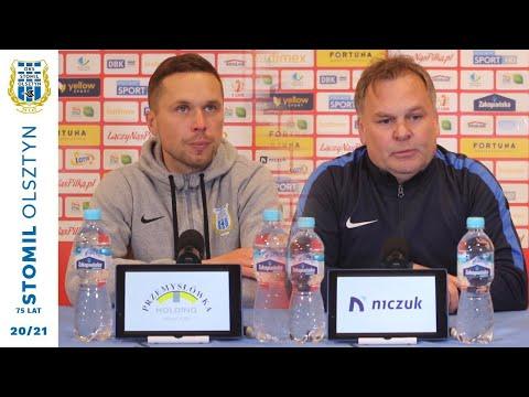 Trenerzy po meczu Stomil Olsztyn - Puszcza Niepołomice 2:1
