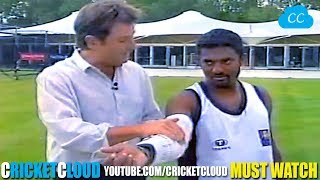 Legend Muttiah Muralitharan Bowling with STEEL ARM Brace - Proving his Action is LEGAL !!
