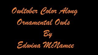 Coloring in Ornamental Owls| Owltober