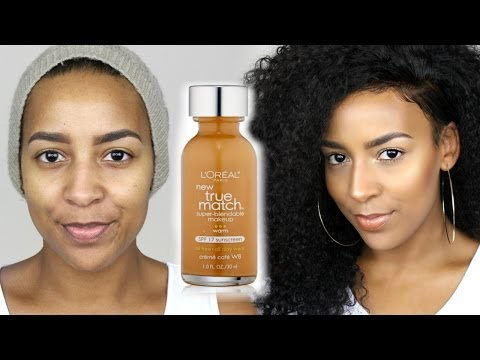 L'Oreal True Match Foundation & Concealer Demo + Review