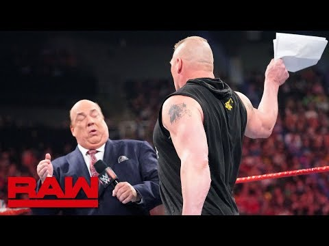 Download Brock Lesnar learns an important Money in the Bank detail: Raw, May 27, 2019 HD Mp4 3GP Video and MP3
