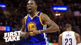 Kevin Durant Is 'Single-Handedly Ruining' LeBron James' Legacy   First Take   June 9, 2017 - Video Youtube