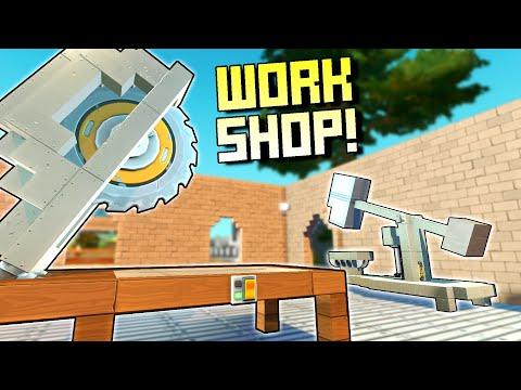 Building a Workshop with Automatic Machines!  - Scrap Mechanic Survival Mode [SMS 57]