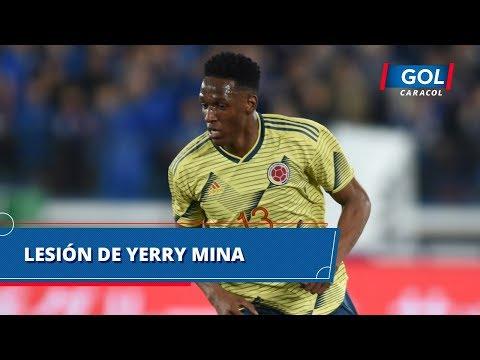 Lesion de Yerry Mina con la Seleccion Colombia | Gol Caracol